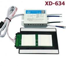Изображение Сенсорный выключатель XD-634 двухканальный, подсветка + подогрев 010.10.42