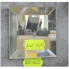 Изображение Декоративный зеркальный элемент с фацетом 60 х 60 мм.  011.8.35