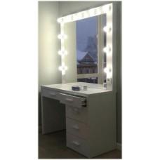Изображение Зеркало с подсветкой 850 х 1100 мм.  и столом для визажистов 02.7.85