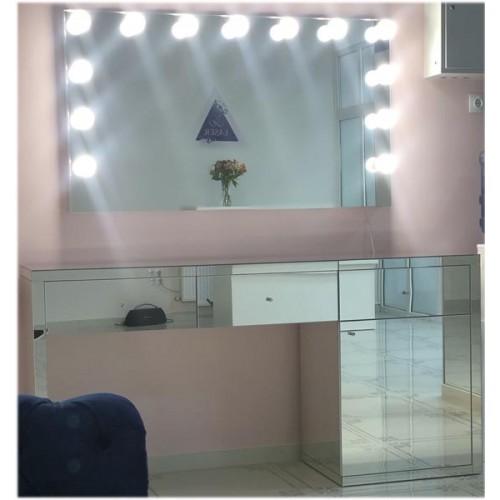 Изображение Зеркало с подсветкой 800 х 1400 мм. и зеркальным столом 02.21.12 - изображение 4