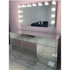 Изображение Зеркало с подсветкой 800 х 1400 мм. и зеркальным столом 02.7.86