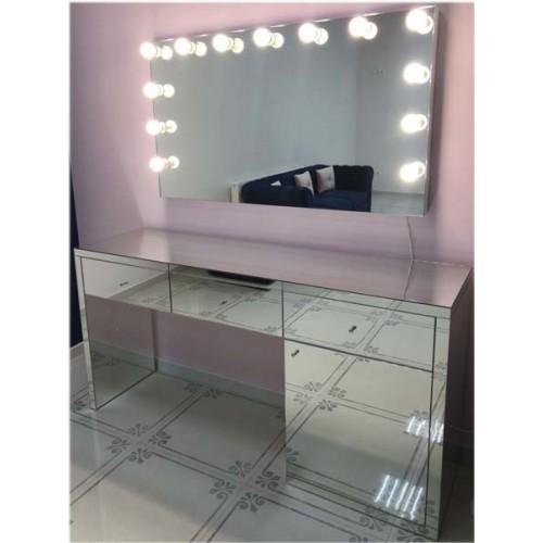 Изображение Зеркало с подсветкой 800 х 1400 мм. и зеркальным столом 02.21.12 - изображение 3
