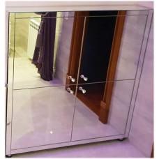 Изображение Зеркальная напольная тумба в санузел 1000  х 1000 х 250 мм. 03.09.05