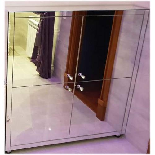 Изображение Зеркальная напольная тумба в санузел 1000  х 1000 х 250 мм. 03.09.05 - изображение 2