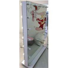 Изображение Мобильное двухстороннее зеркало с подсветкой  1890 х 1300 х 400 мм. 02.7.87