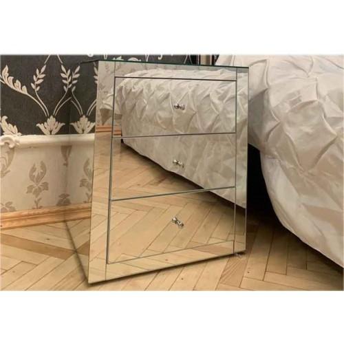 Зображення Дзеркальна тумбочка для ліжка 530 х 450 х 400 мм.  04.08.23 - изображение 2