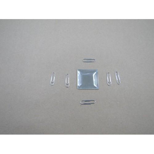 Изображение Декоративный зеркальный элемент с фацетом 38х38 мм 011.8.23 - изображение 2