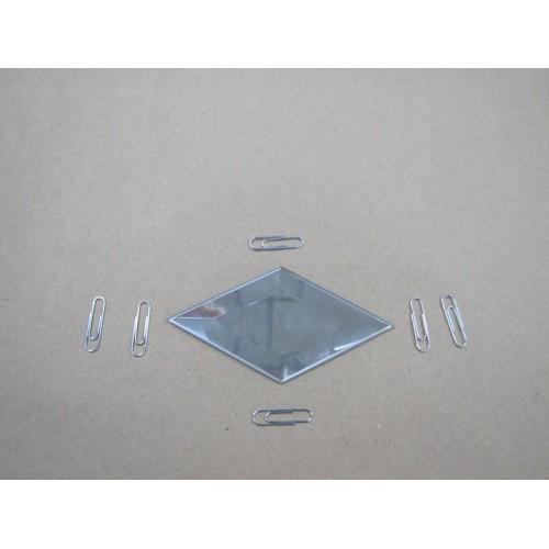 Зображення Декоративний дзеркальний елемент з фацетом 51х101 мм 011.8.24 - изображение 2