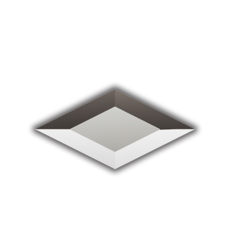 Изображение Декоративный зеркальный элемент с фацетом 51х101 мм 011.8.24 - изображение 3