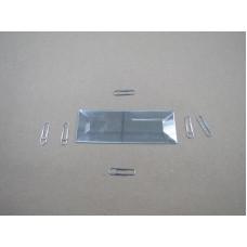 Зображення Декоративний дзеркальний елемент з фацетом 38х102 мм 011.8.25