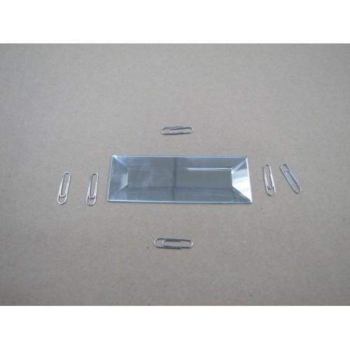 Зображення Декоративний дзеркальний елемент з фацетом 38х102 мм 011.8.25 - изображение 2