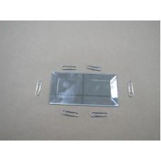 Изображение Декоративный зеркальный элемент с фацетом 51х102 мм 011.8.27