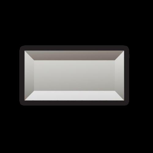 Изображение Декоративный зеркальный элемент с фацетом 51х102 мм 011.8.27 - изображение 3
