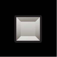 Изображение Декоративный стеклянный элемент с фацетом 38х38 мм 011.8.33