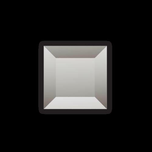 Изображение Декоративный стеклянный элемент с фацетом 38х38 мм 011.8.33 - изображение 3
