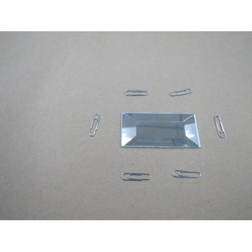 Изображение Декоративный зеркальный элемент с фацетом 38х76 мм 011.8.31 - изображение 2