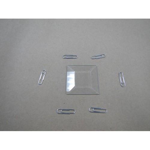 Зображення Декоративний скляний елемент з фацетом 51х51 мм 011.8.32 - изображение 2