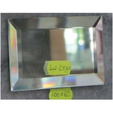 Зображення Декоративний дзеркальний елемент з фацетом 100 х 60 мм. 011.8.36