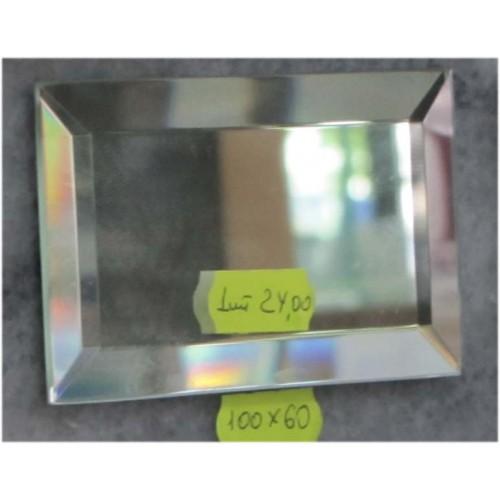 Зображення Декоративний дзеркальний елемент з фацетом 100 х 60 мм. 011.8.36 - изображение 2