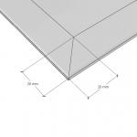 Зображення Дзеркало з фацетом 20 мм, 800 х 800 мм. 1123 - изображение 3