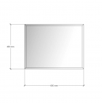 Зображення Дзеркало 4 мм з фацетом 10 мм 450 х 600 мм. 1115 - изображение 3