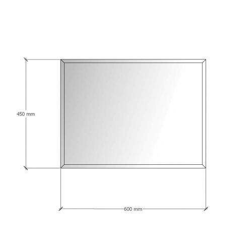 Зображення Дзеркало 4 мм з фацетом 10 мм 450 х 600 мм. 1115 - изображение 8