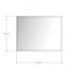 Зображення Дзеркало 4 мм з фацетом 10 мм 500 х 650 мм. 1116 - изображение 3