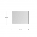 Изображение Зеркало 4 мм с фацетом 10 мм 550 х 700 мм. 1117 - изображение 3