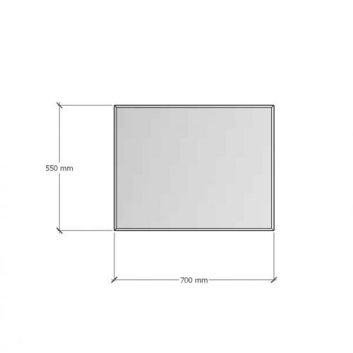 Изображение Зеркало 4 мм с фацетом 10 мм 550 х 700 мм. 1117 - изображение 8