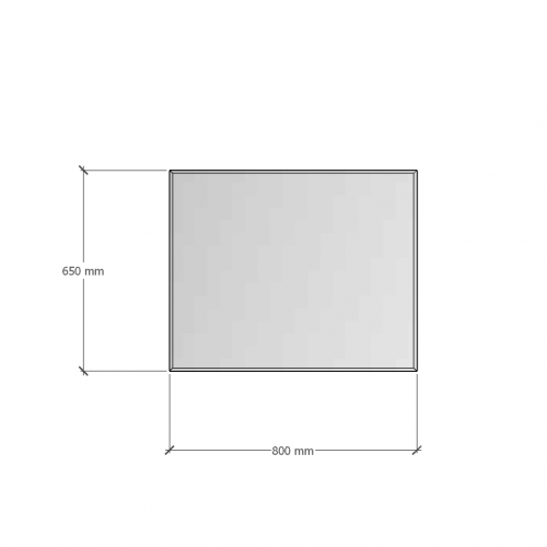 Изображение Зеркало с фацетом 10 мм 650 х 800 мм. 1119 - изображение 8