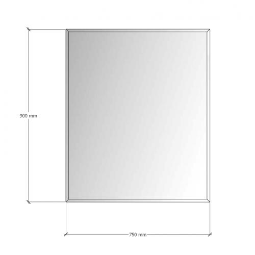 Изображение Зеркало с фацетом 10 мм, 900 х 750 мм.  1121.1 - изображение 8