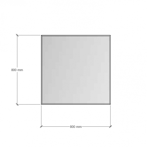 Зображення Дзеркало з фацетом 20 мм, 800 х 800 мм. 1123 - изображение 6