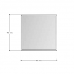 Зображення Дзеркало с фацетом 30 мм, 900х900мм 1124 - изображение 2