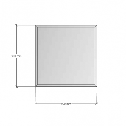 Зображення Дзеркало с фацетом 30 мм, 900х900мм 1124 - изображение 6