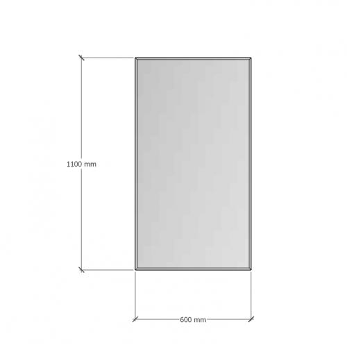 Зображення Дзеркало з фацетом 10 мм, 1100 х 600 мм. 1150 - изображение 8