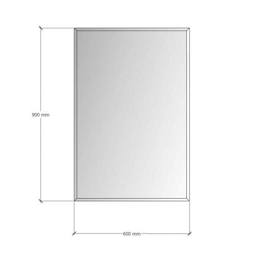 Зображення Дзеркало з фацетом 10 мм, 900 х 600 мм. 1151 - изображение 8