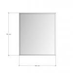 Изображение Зеркало с фацетом 10 мм, 700 х 600 мм. 1152 - изображение 3