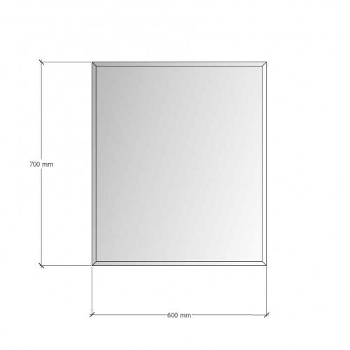 Изображение Зеркало с фацетом 10 мм, 700 х 600 мм. 1152 - изображение 8