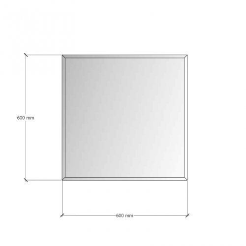Зображення Дзеркало з фацетом 10 мм, 600 х 600 мм. 1153 - изображение 8