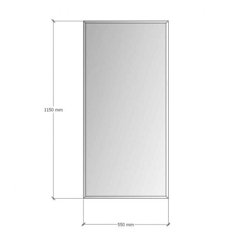 Изображение Зеркало с фацетом 10 мм, 1150 х 550 мм. 1154 - изображение 8