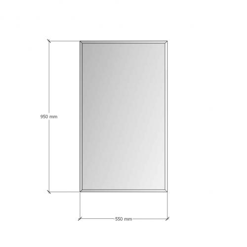 Зображення Дзеркало з фацетом 10 мм, 950 х 550 мм. 1156 - изображение 8