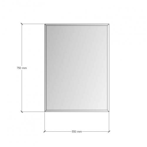 Изображение Зеркало с фацетом 10 мм, 750 х 550 мм. 1158 - изображение 8