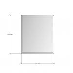 Зображення Дзеркало з фацетом 10 мм, 650 х 550 мм. 1159 - изображение 3