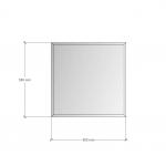 Изображение Зеркало с фацетом 10 мм, 550 х 550 мм. 1160 - изображение 3