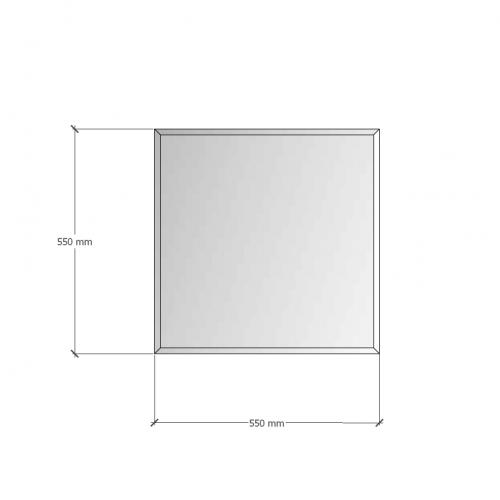 Изображение Зеркало с фацетом 10 мм, 550 х 550 мм. 1160 - изображение 8