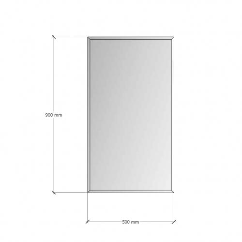 Изображение Зеркало с фацетом 10 мм, 900 х 500 мм. 1163 - изображение 8