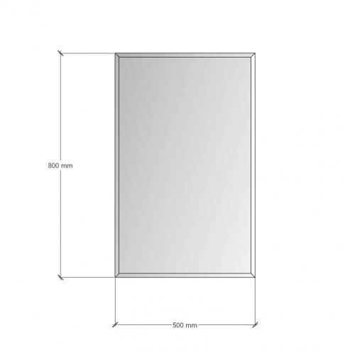 Изображение Зеркало с фацетом 10 мм, 800 х 500 мм. 1164 - изображение 8