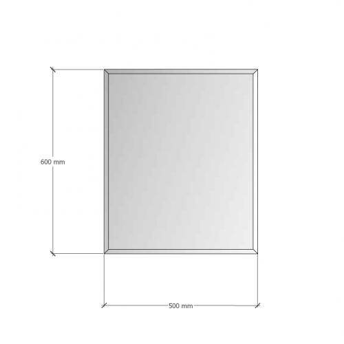 Изображение Зеркало с фацетом 10 мм, 600 х 500 мм. 1165 - изображение 8