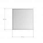 Изображение Зеркало с фацетом 10 мм, 500 х 500 мм. 1166 - изображение 3