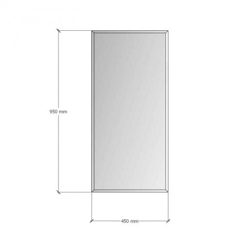 Изображение Зеркало с фацетом 10 мм, 950 х 450 мм. 1168 - изображение 8